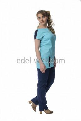 Костюм женский медицинский без воротника на молнии