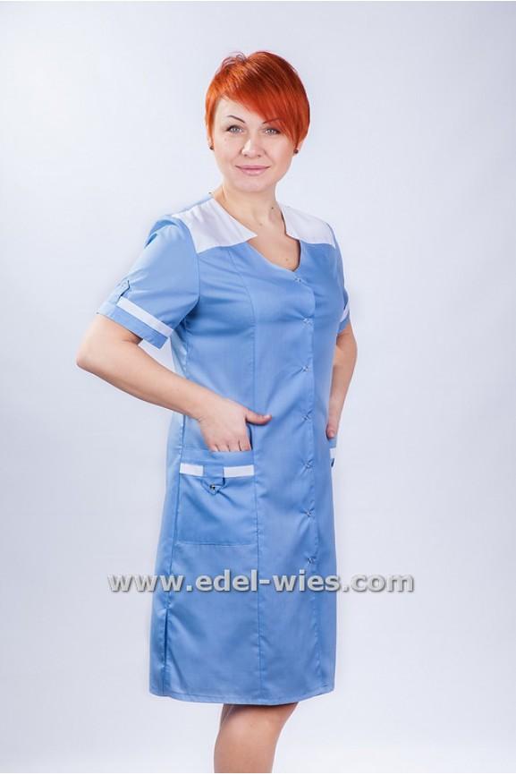 Женский медицинский халат с фигурным вырезом