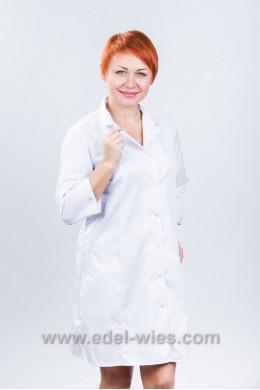 Женский медицинский халат классический с английским воротником с и рукавом ¾