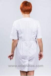 Женский медицинский халат без воротника с V-образным вырезом