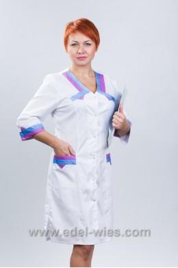 Халат медицинский женский с V-образным вырезом