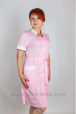 Медицинский халат женский с воротником стойкой
