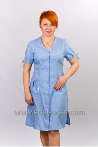 Халат медицинский женский без воротника на шнуровке