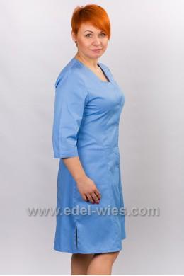 Халат медицинский женский с V-образным вырезом и рукавом ¾