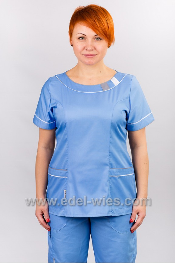 Костюм женский хирургический с круглым вырезом