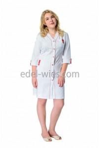 Халат медицинский женский  без воротника с оригинальной планкой по центру