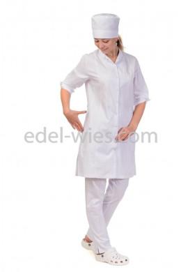 Халат медицинский женский со стойкой и рукавом ¾