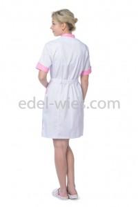Женский медицинский халат с воротником стойкой