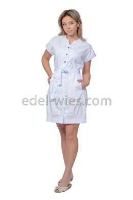 Халат медицинский женский с коротким рукавом на манжете
