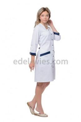 Халат медицинский женский оригинального кроя на кулиске