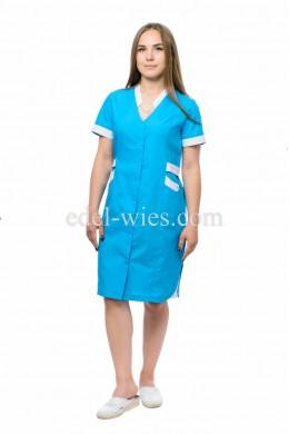 Халат медицинский женский цветной  с коротким рукавом