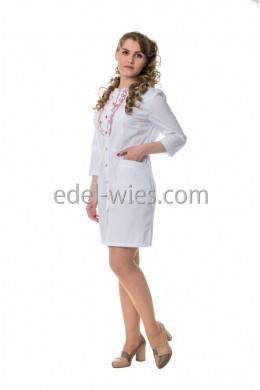Халат медицинский женский с рюшей