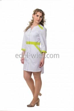 Халат медицинский женский удлиненный сзади